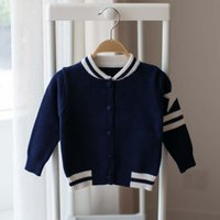Wholesale Children Cardigan Korean Knitted Sweaters Baby Clothes Kids Clothing Autumn Sweater Coat Child Boys Girls Crochet Cardigan Ciao C27760