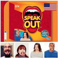 Wholesale Pie Face Of Speak Out Game Hot Selling Board Game Interesting Party and Family Game for KTV Party DHL