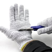 Wholesale Free DHL Cut Resistant Gloves Highest Performance Knife Scissors Hand Protector Level Protection Kitchen Work Safety Glove E804E