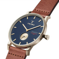 Wholesale TRIWA Top brand ultrathin quartz watches men and women simple neutral fashion ATM watch big dial waterproof leather
