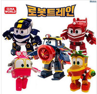 Wholesale new style South Korea dynamic train family trains robot dynamic train toy for children gift watch A103