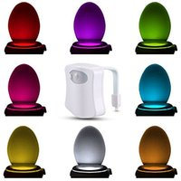 auto killer - Smart LED Motion Auto Sensor Activated Toilet Night Light Bathroom With Color Changing Battery Operated Washroom Nightlight