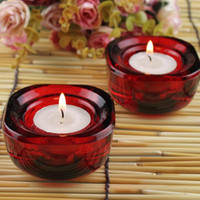 Wholesale Fashion Glass Candle Holders Good Quality For Home Party Decoration New Year Gifts