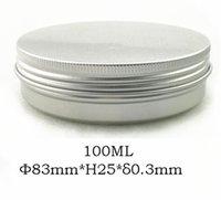 #PB024 aluminum cosmetics case - 100pcs g Empty Aluminum Cosmetic Jar MM Container ml Screw Cap Makeup Case Tea Box Factory