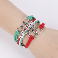 Wholesale Hot Sale Christmas Bracelet Jewelry Fashion charm Woven Bracelets exquisite workmanship novel LOVE CHRISTMAS letter popular