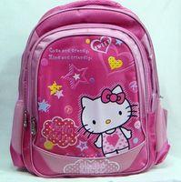 Wholesale 50cs Newest Arrival Lovely Hello Kitty Girl School Bag Cartoon Kids Backpack Students Rucksack G295