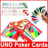 Wholesale Popular UNO Card One Pack of Standard Fun Game Edition Family Children Friends Playing Funny Puzzle Cards for Travel