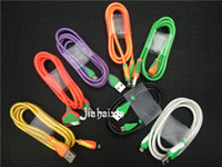 Wholesale TOP M ft Colours Cable Fabic Woven Micro USB Data Sync Charger Cable Cord WirFor Samsung S6 S6edge S5 S4 S3 HTC Android Phone M