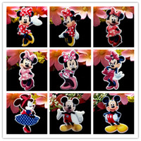 art supplies europe - Red Pink Dot Bow Dress Minnie Mickey Mouse Planar Resin Cabochon Flat Back Scrapbooking Flatback Hair Bow Center DIY Craft Supply