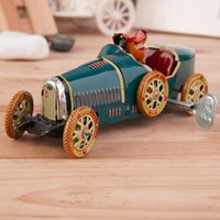 army driver - Vintage Metal Tin Sports Car with Driver Clockwork Wind Up Toy Collectible Hot Selling