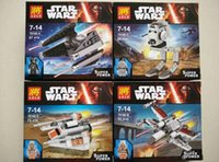abs in c - JIang A B C D four types Star Wars X Wing block set toys baby action figures made in ABS plastic