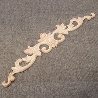 architectural wall decor - 2015 Hot Selling x9x0 cm Practical Oak Wood Carved Carving Long Onlay Applique Architectural Cabinet Door Wall Home Decor