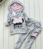 aa tops - Hug Me Girls Boys Baby Cothes Kids Suit Mickey Top Pants set Kids clothes New Autumn Winter palm pattern Pants AA