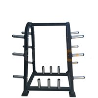 Wholesale Unique Stainless Steel Barbell Bumper Plates Rack