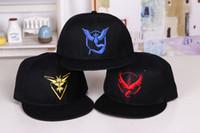 Wholesale Poke Go Baseball Caps Fashion Poke Hats Casual Pikachu Caps Adjustable Poke Ball Snapbacks Hats Pocket Monster Adult Poke Hats Hot Selling