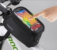 Wholesale US Stock inch Bicycle Front Bag Mountain Bike Frame Pannier Saddle Bag Touchscreen Cell Phone Case GPS Bag L CA5