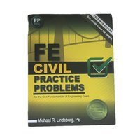 Wholesale 2016 New Arrival Books FE Civil Practice Problem Book for the Civil Fundamentals of Engineering Exam DHL