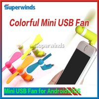 Wholesale For Apple iPhone s Plus Mini USB Air Fan Pin Flexible Portable Super Mute Cooler hand held Cooling For Android Phone With Package ByDHL