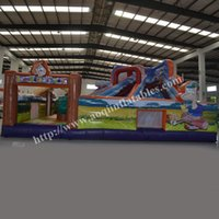 backyard fun - AOQI inflatable fun city geological inflatable amusement park for kids for sale made in guangzhou China