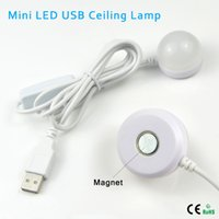 Wholesale NEW Mini W USB LED Ceiling lamp For Desk Reading lamp Camping Book With Switch ON OFF Emergency Night light Toys Gifts