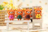 Mini Cute U Disk Cartoon Capacité réelle 2 Go 4 Go 8 Go 16 Go 32 Go 64G USB Rilakkuma Bear