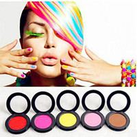 Wholesale 1set Colors Dye Hair Powdery Caketemporary Hair Chalk Powder Dye Soft Pastels Salon Temporary Party Christmas Diy