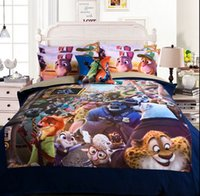 Wholesale Zootopia children cartoon room bed set fitted sheet pieces bedding set bedding supplies hot sale