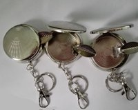 Wholesale Mental Mini Ashtray Portable Circular Metal Ashtray Environmental Ashtray with A Key Chain