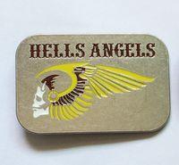 alloy motorcycles metal - Hells angels MC motorcycle belt buckles with Rectangle Color Metal Cowboy Belt buckle