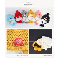 Wholesale new Princess mother baby bonnet cap set baby Hello labeling wool hat