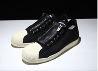adi high - 2016 Stan Y3 Shoes BB4797 Yohji shoes Yamamoto casual Board shoes black white high quality Superstar Brand shoes adi