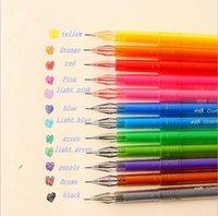 Wholesale 12 Different Colors Cartoon Fresh Star Milky Diamond Color Gel Pen mm
