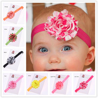 baptism accessories - 16 Shabby Chiffon Flower Headband Valentines Baby Headband Baptism Headband Newborn Baby Hair Accessories