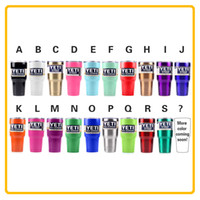 Wholesale Immediately Delivery Colors Yeti Rambler Tumbler Cup White Black Red Pink Orange Green Blue Purple oz Yeti Stainless Steel Mug
