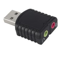 Wholesale Mini External USB Double Channel Audio Sound Card Adapter For PC Laptop