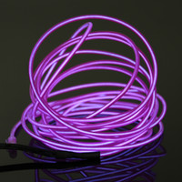 Wholesale 15FT mm Flexible Neon LED Light Glow EL Wire String Strip Rope Tube Car Dance Party Controller Decorative Strip Lights