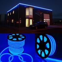 Wholesale 150ft Flex LED Neon Rope Light lighting Blue color DIP Holiday Decoration V LED Strip light