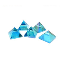 aqua safe - 1 ONE Chakra Pyramid Aqua Aura Pyramid Crystal Quartz Aqua Aura Pyramid Reiki Metaphysical Crafting Crystal Grids Rock Paradis