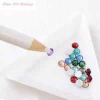 Wholesale Dotting Tools White Nail Art Rhinestones Gems Picking d Design Painter Pencil Pen Dotting Tools Kit
