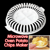 Wholesale DIY Low Calories Microwave Oven Fat Free Potato Chips Maker Home New Kitchen Accessories Supplies E5M1 order lt no track