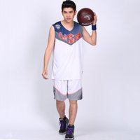 basketball uniform kit - DIY Men s Adult Sleeveless Big Size Basketball Jerseys Wear Training Suit Kits Shirts Outdoor Sports Necessities Uniform