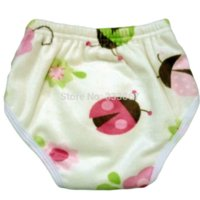 Diaper Covers 0-3 Months New Born 1 New Design Bamboo Reusable Waterproof Snaps Baby Potty Training Pants for Toddler 18 months to 3 years old, Minky, Ladybug