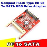 Wholesale CF TO Sata converter CF Compact Flash Merory Card to Pin converter Adapter Compact Flash Serial ATA HDD Hard Disk Card