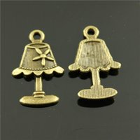antique bronze table lamp - 100pcs mm antique bronze plated Table lamp charms
