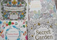Wholesale Secret Garden Coloring Books Animal Kingdom Secret Garden Adult Reducing Stress Drawing Book Diy Book Animal Kingdom Secret Garden