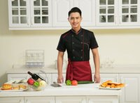 Wholesale Chef Uniforms in black with short sleeves