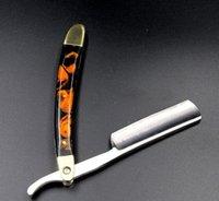 Wholesale Super quality Straight Edge Stainless Steel Hair Shaper Barber Razor Folding Shaving Knife