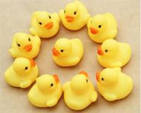 bathing water quality - High quality Baby bath water toys small yellow ducks kids bathe rubber ducks sounds Classic bath duck