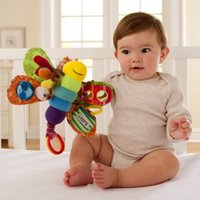 Wholesale 35 cartoon Baby Rattles Mobiles plush toy soft teether noise maker can bite bell ring gift for kids