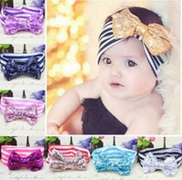american flag bandanas - 2016 American flag cute princess rabbit ears ring Neonatal striped headband National knotted headband baby hair accessories